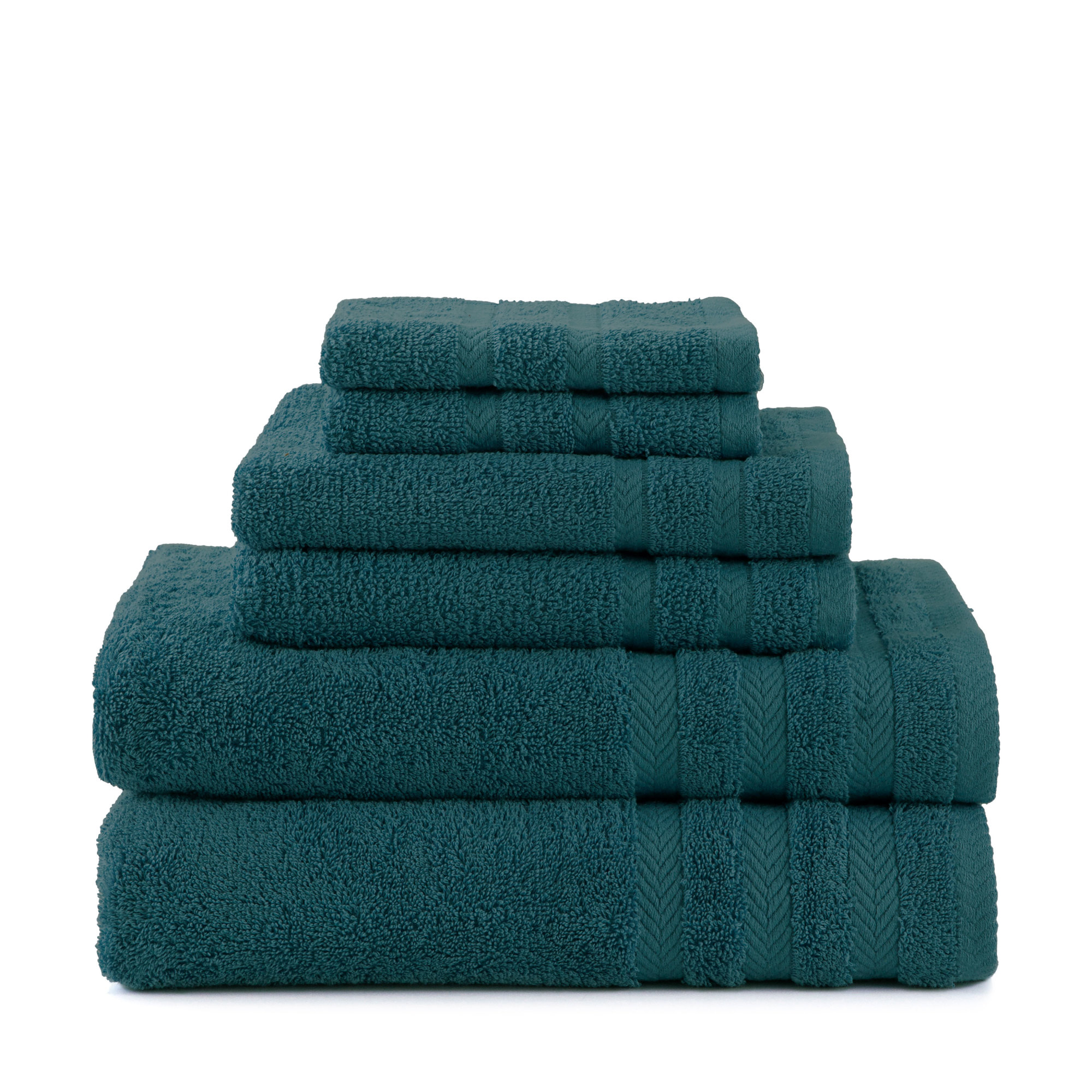 Egyptian Cotton With Dryfast 6 Piece Black Plum Towel Set by WestPoint Home