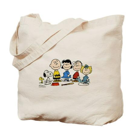 CafePress - The Peanuts Gang - Natural Canvas Tote Bag, Cloth Shopping Bag - Cloth Tote Bags