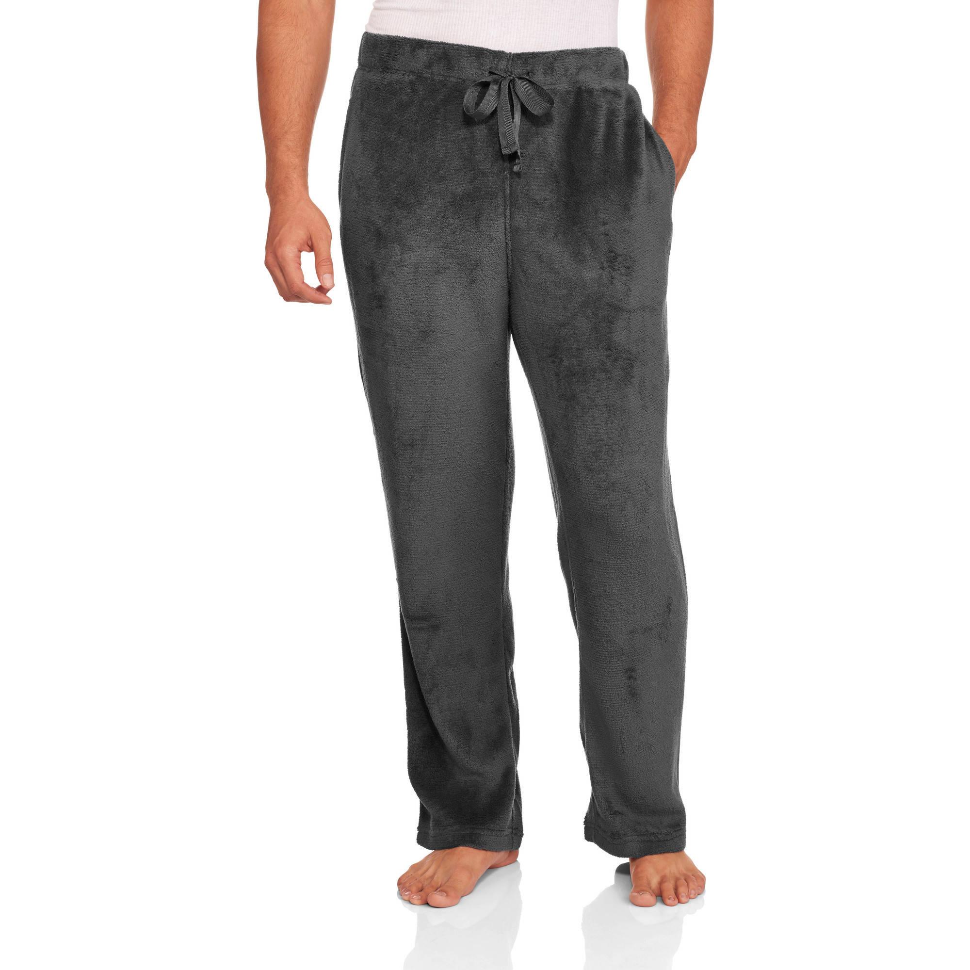 Max Deco Big Men's Solid Plush Sleep Pants