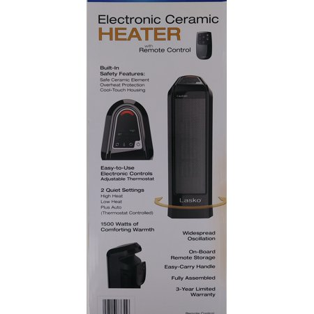 Lasko Count16560 Electronic Ceramic Heater with Remote Control