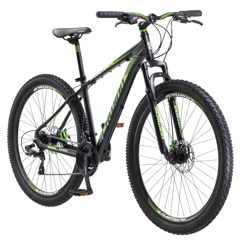 """Aluminum Mountain Bike 29/"""" 21 speed Gray Men Bicycle Disc Brake Shimano New!"""