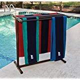 Outdoor Lamp company 405BRZ Portable Outdoor 5 Bar Towel Rack Bronze ()
