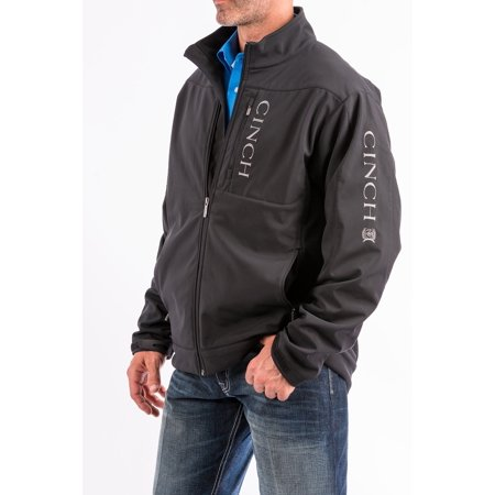 Cinch Men's Black Concealed Carry Bonded Jacket Large Embroidered Logo Warm