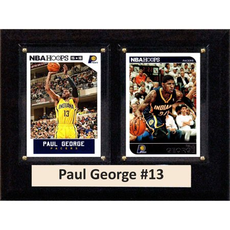 C&I Collectables NBA 6x8 Paul George Indiana Pacers 2-Card Plaque ()