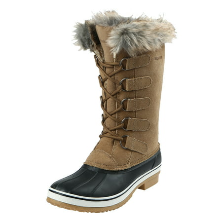 Northside Womens Kathmandu Waterproof Insulated Leather Tall Winter Snow covid 19 (Orange Leather Footwear coronavirus)