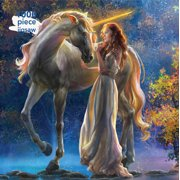 Adult Jigsaw Puzzle Sophia and the Unicorn by Elena Goryachkina: 1000-piece