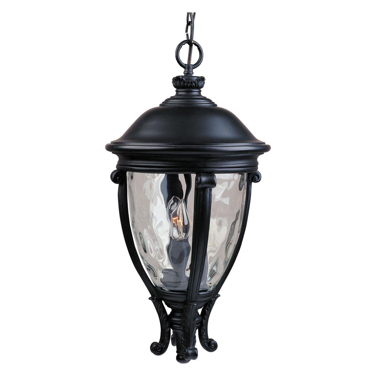 Maxim 41429WGBK Camden VX Outdoor Hanging Lantern - 13W in. Black
