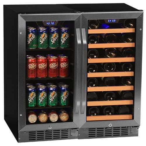 EdgeStar CWBV8030 30 Inch Wide 30 Bottle 80 Can Side-by-Side Wine and Beverage C