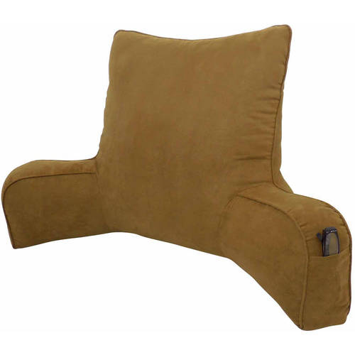 Suede SolidColor Oversized Bedrest Lounger Walmartcom