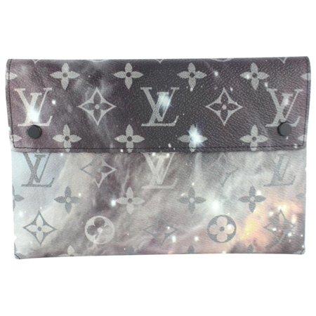 2eb15c89b Louis Vuitton - Louis Vuitton Pochette Monogram Galaxy Alpha Envelope  Kirigami Pouch 21lz1130 Grey Coated Canvas Clutch - Walmart.com