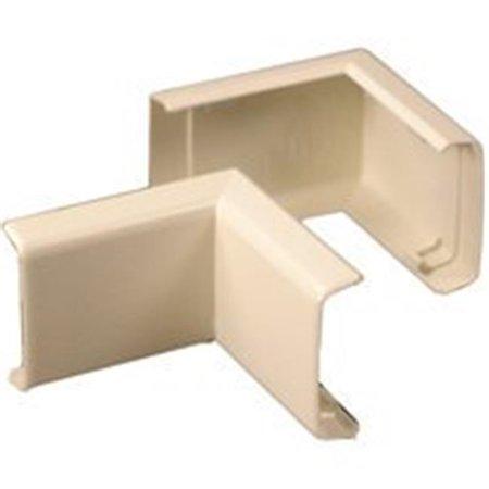 Wiremold NM7 Ivory Plastic 90 Degree Inside E lbow - image 1 de 1