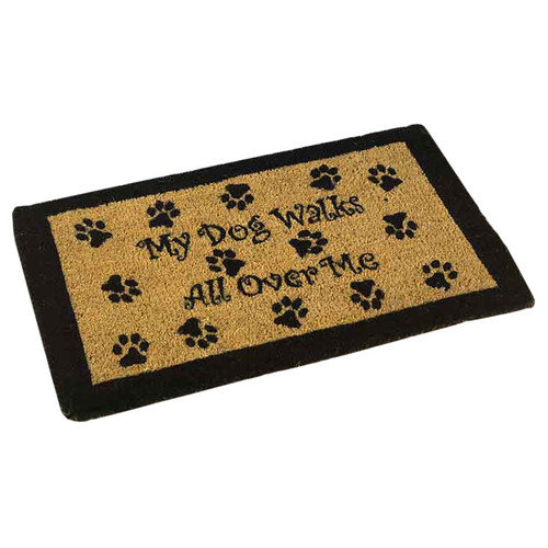 American Mills My Dog Walks Outdoor Coir Doormat
