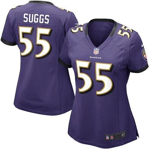 Terrell Suggs Baltimore Ravens Nike Women's Game Jersey - Purple