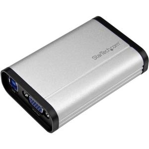 StarTech.com USB 3.0 Capture Device for High Performance VGA Video - 1080p 60fps - Aluminum - Functions: Video Capturing, Video Recording - 1920 x 1200 - MPEG-4, H.264 - VGA - USB - Audio Line In