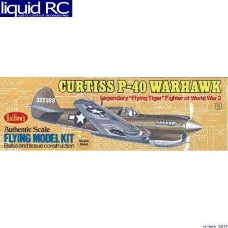 Guillow's Curtiss P-40 Warhawk Balsa Wood Model Airplane Kit WWII Plane  GUI-501 (B29 Model Airplane Kit)