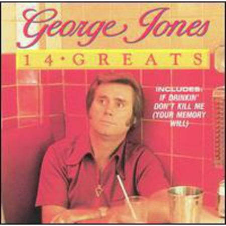 George Jones is one of the last great honky-tonk country singers and a national treasure. His voice is smooth and supple, capable of joyous growls, romantic whispers, and dead-of-night despair. 14 GREATS is a collection of Jones' classics and pre-'70s country classics. No recording or copyright dates are provided, but (Best Country Singers Of The 80s)