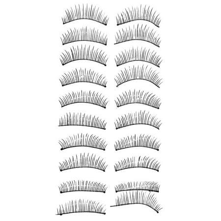 Unique Bargains Soft Natural False Eyelashes Fake Lashes Extension 10 Pairs