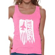 Awkward Styles American Flag Airforce Women Tank Top Free to Be Me Military Shirt for Women Airforce Gifts Vintage USA Airforce Women Tank Gifts for Women Pro America Airforce Top for Women