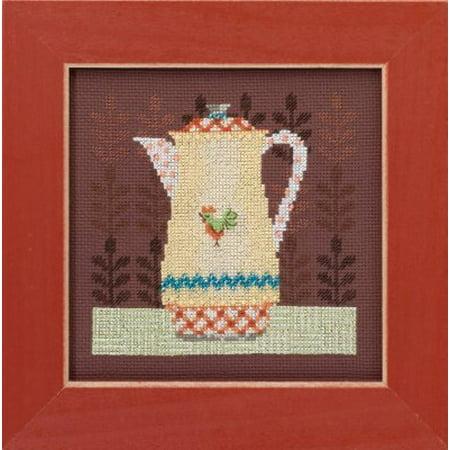 Debbie Mumm Bird - Coffee Server Beaded Counted Cross Stitch Kit Mill Hill 2016 Debbie Mumm Good Coffee & Friends DM301613