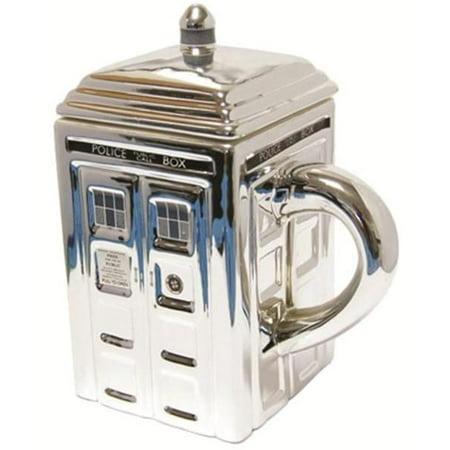 Doctor Who Chrome Tardis Ceramic Mug - image 1 de 1