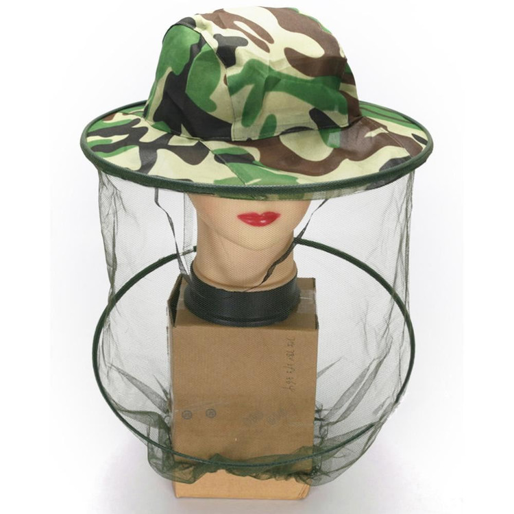 Camo Face Net Camo Head Net Insect Bee Mosquito Resistance Bug Net Mesh Head Face Protector Cap Sun Hat by