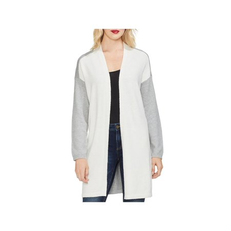 Vince Camuto Womens Open Front Colorblock Cardigan Sweater