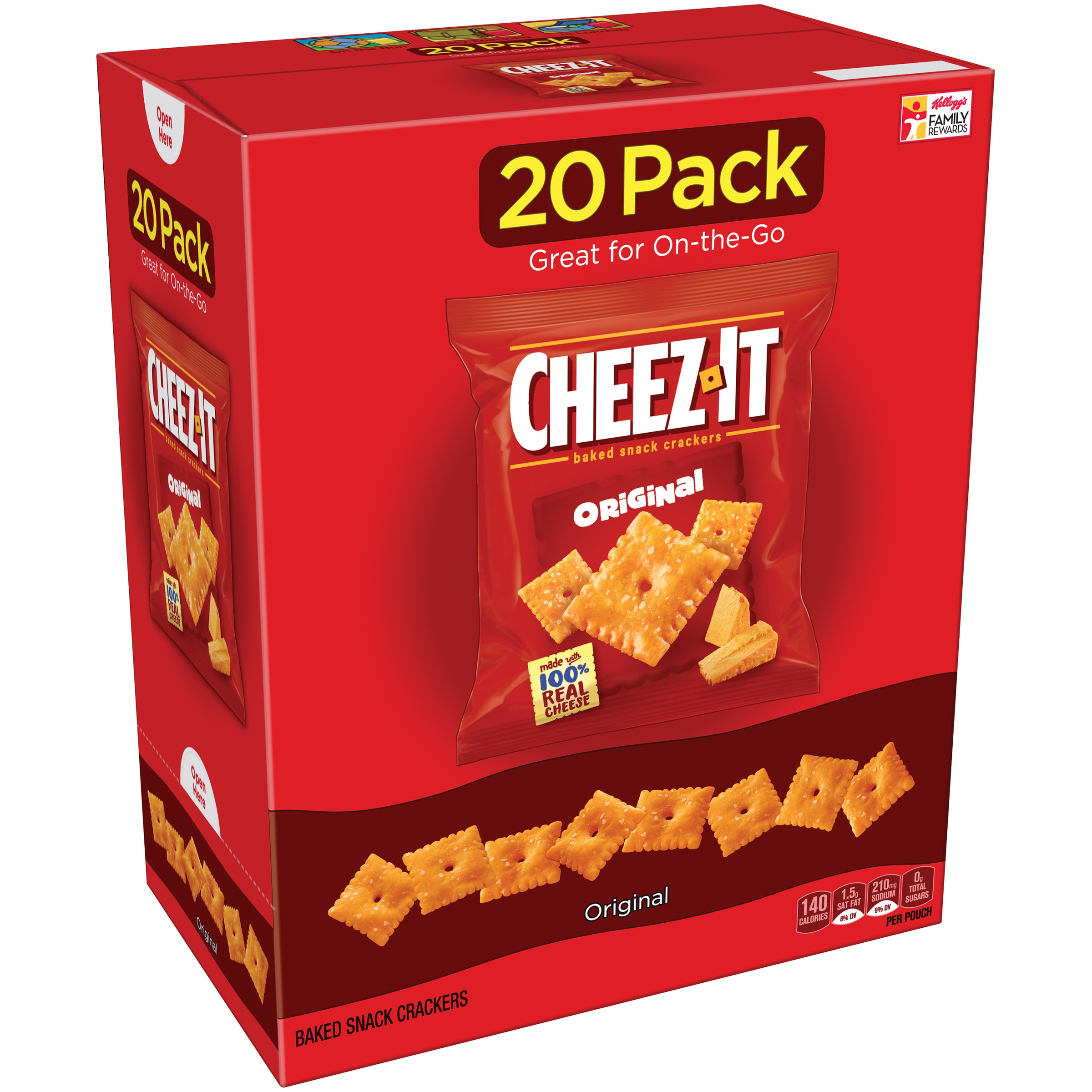 Cheez-It Baked Snack Crackers, Original, 1 Oz. Pk, 20 Ct by Sunshine Biscuits, LLC
