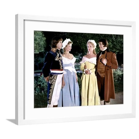 Napoleon by SachaGuitry with Daniel Gel Dany Robin and Robert Manuel, 1954 (photo) Framed Print Wall Art