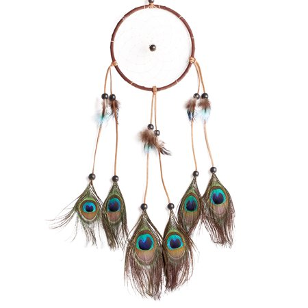 Dream Catcher Handmade Peacock Feather Wall Hanging Ornaments Home Bedroom Wall Car Decoration for Home Decor for Women Kids - Walmart.com
