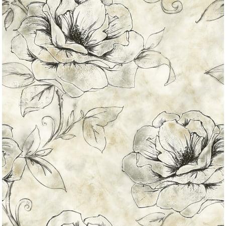 Manhattan Floral Wallpaper Bolt- -