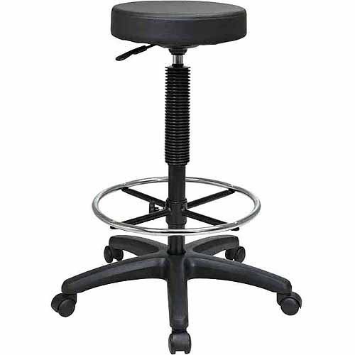 Office Star Work Smart Backless Drafting Chair, Black