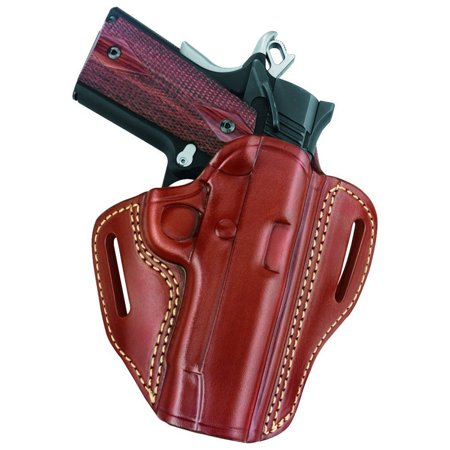 Gould and Goodrich 800-194 Gold Line Open Top 2-Slot Holster, Chestnut Brown