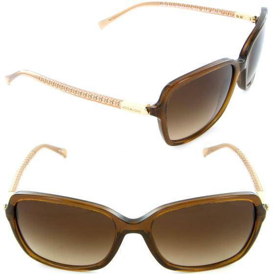 da1f534e14 Coach - COACH Sunglasses HC 8152 532813 Brown Glitter Crystal Brown ...