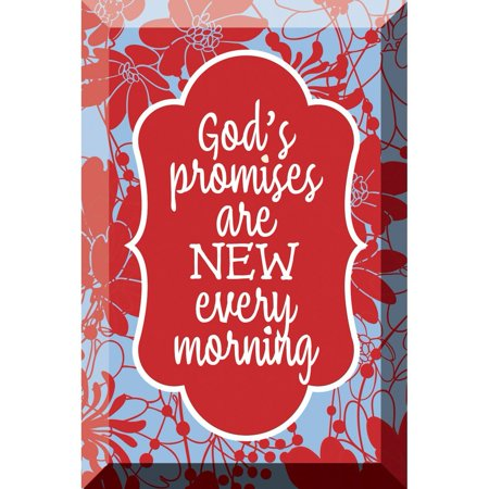 (God's Promises Artisan Glass Plaque, Artisan Glass Beveled Plaque with Easel By Dexsa Ship from US)