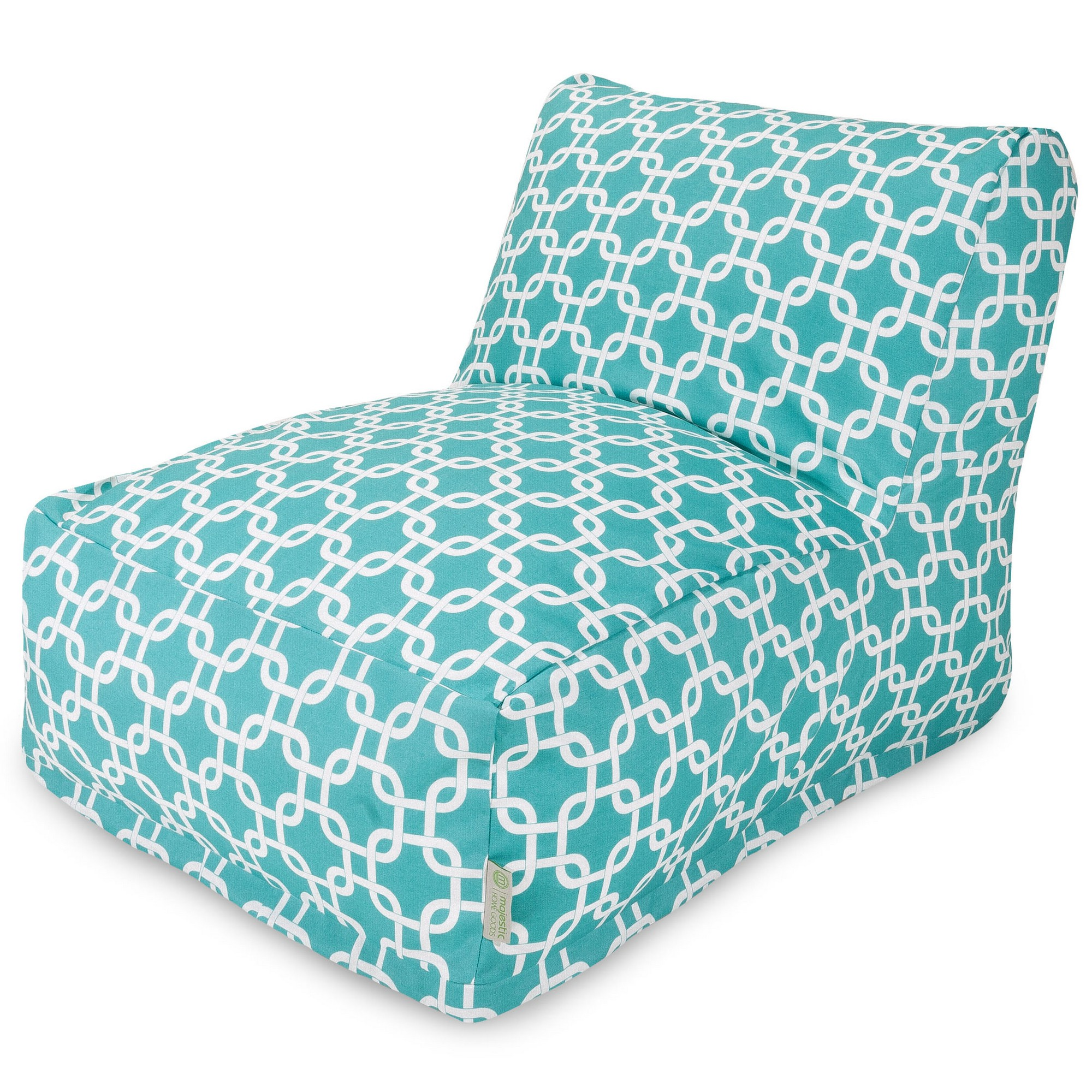 Majestic Home Goods Indoor Outdoor Black Links Chair Lounger Bean Bag 36 in L x 27 in W x 24 in H