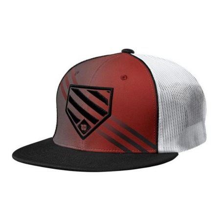 Wilson W Home Plate Hat Baseball Cap Trucker Hat Flex Fit FlatBill (Flexfit Trucker)