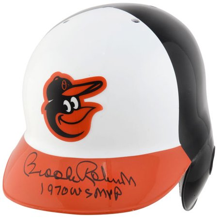 Brooks Robinson Baltimore Orioles Autographed Authentic Batting Helmet with WS MVP Inscription ()