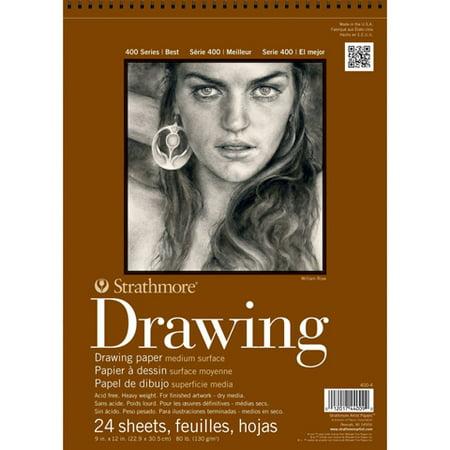 Strathmore Drawing Paper Pad, 400 Series, Medium Surface, 12