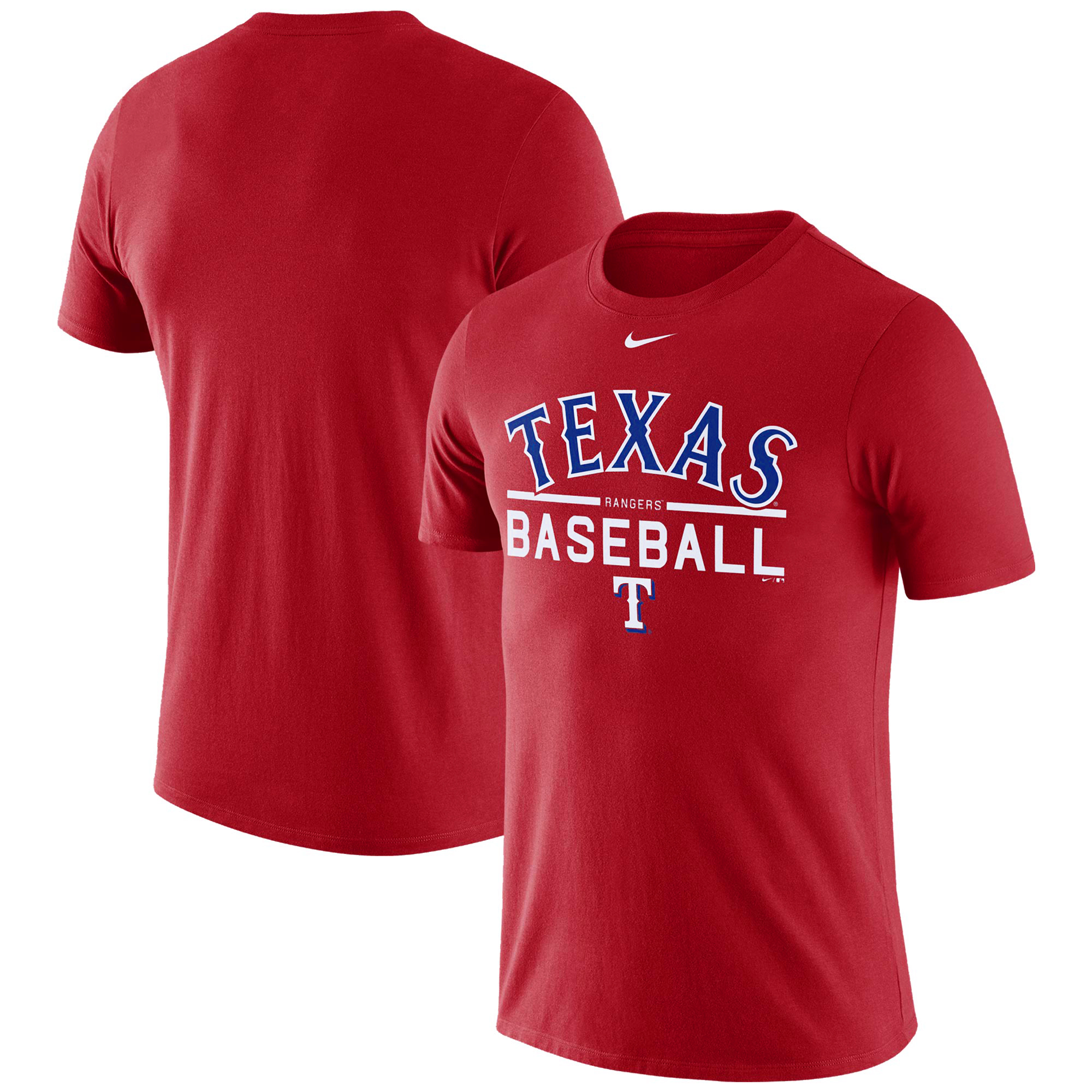 Men's Nike Red Texas Rangers Practice T-Shirt