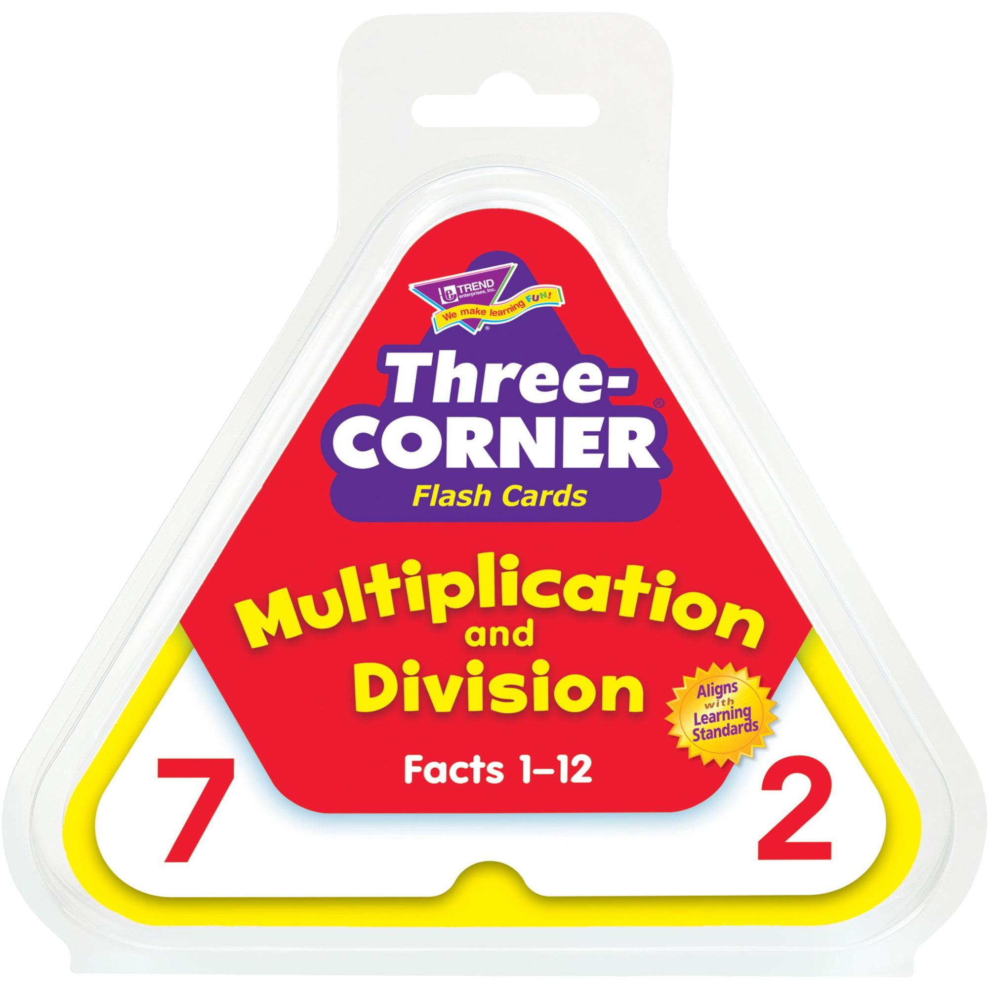 Trend, TEPT1671, Multiplication/Division Three-Corner Flash Card Set, 1 / Set