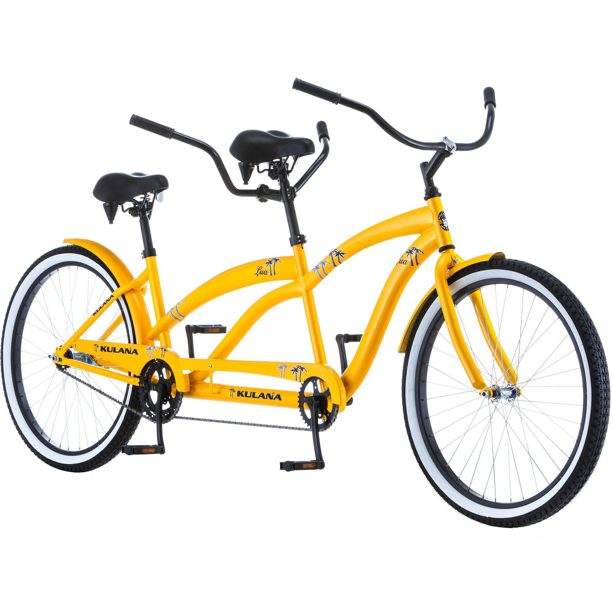 "26"" Kulana Lua Tandem Bike, Yellow"