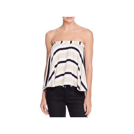 Faithfull the Brand Womens Striped Open Shoulder Tube (Faithfull Combination)