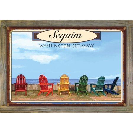 "Washington Get Away Rustic Metal Print on Reclaimed Barn Wood by Joanne Kollman (12"" x 18"")"