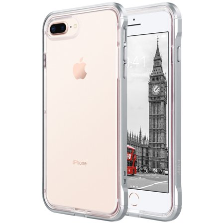 check out 3c1b3 3dc21 ULAK Reinforced Clear Hybrid Case for Apple iPhone 7 Plus, Silver