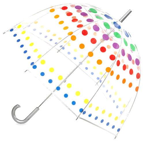 Totes Bubble Umbrella, Primary Dots