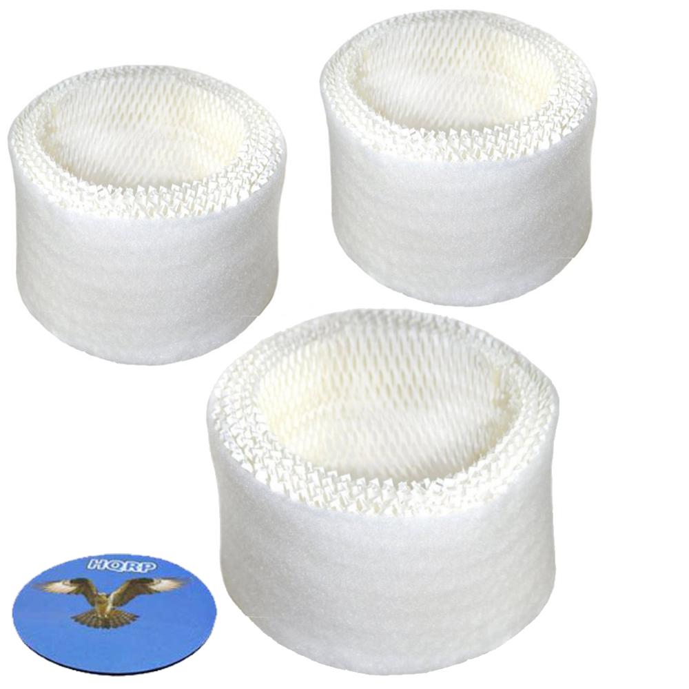 HQRP Filter 3-pack for Vicks V3100 V3500 V3600 V3700 V3800 V3900 WF2 Humidifier + HQRP Coaster