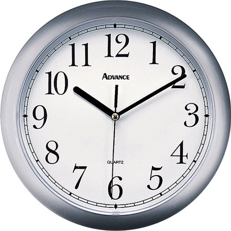 Advance Wall Clock Silver Walmart Com