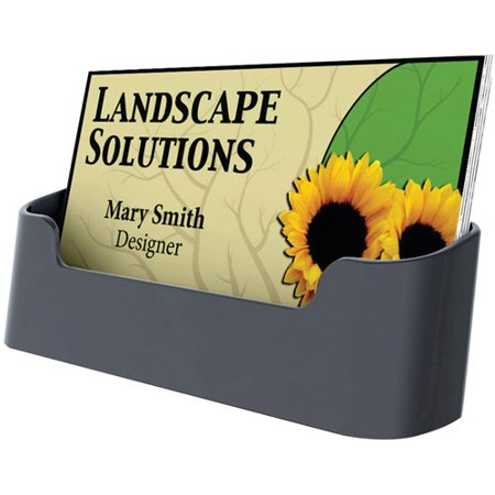 Deflecto 90104 Sustainable Office Single Business Card Holder
