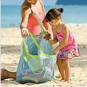 Foldable Beach Bag Sand Away Beach Mesh Toy Sea Shell Tote Kids Toy Storage Bag hot