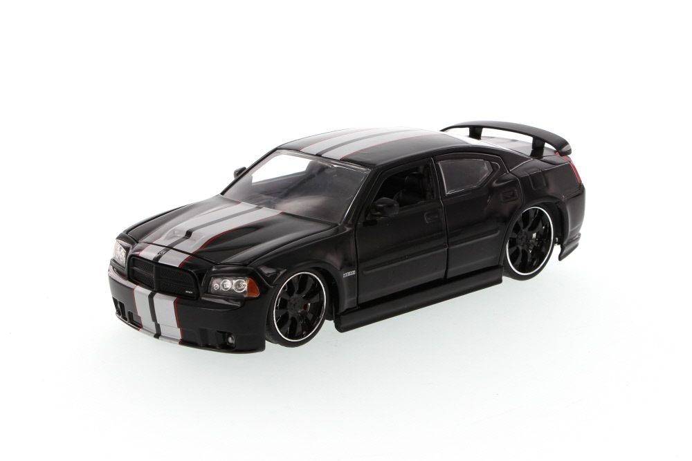 Dodge Charger SRT8, Black Jada Toys Bigtime Muscle 90798 1 24 scale Diecast Model Toy Car... by Jada